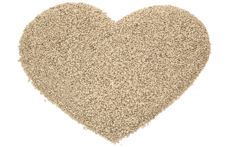 The biodegradable cat litter COSYCAT is friendly to the environment